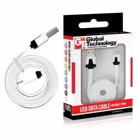GT USB-Micro USB lapos fehér kábel (GT783547)