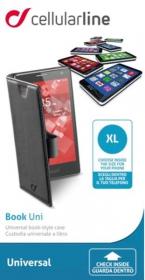 Cellularline Book Case ''XL'' univerzális fekete telefontok (BOOKUNI1LK)