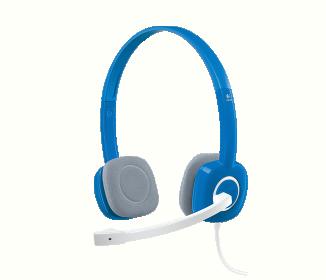 Logitech H150 mikrofonos fekete-kék fejhallgató (981-000368)
