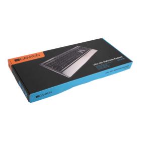 Canyon CNS-HKB4-HU USB magyar fekete-ezüst billentyűzet