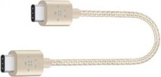 Belkin Premium Mixit Metallic USB C 2.0 15cm arany összekötő kábel (F2CU041BT06INGD)