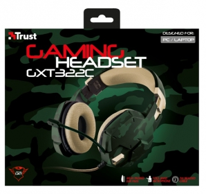 Trust GXT-322C Gaming headset green camouflage (20865)