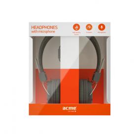 Acme HA11 fekete mikrofonos fejhallgató