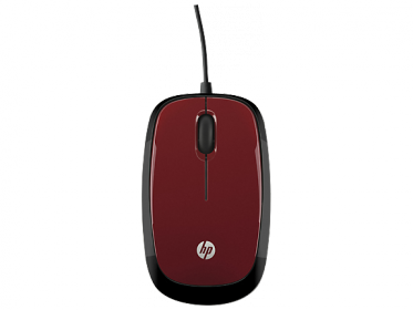 HP X1200 USB optikai bordó-fekete egér (H6F01AA)