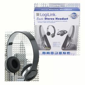 LogiLink HS0028 mikrofonos fekete fejhallgató