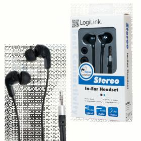 Logilink Sztereó fülhallgató, fekete (HS0038)