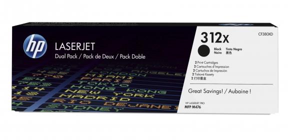 Hp 312X fekete 2 db-os toner (CF380XD)