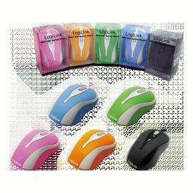 Logilink ID0022 USB optikai kék-fehér egér