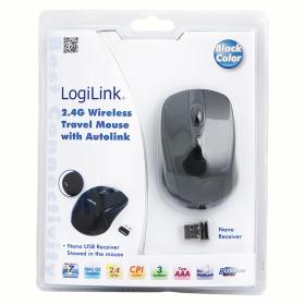 Logilink ID0031 wireless optikai fekete egér