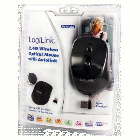 Logilink ID0033 wireless optikai fekete egér