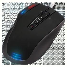 LogiLink Q1 Revulution USB lézer fekete gamer egér (ID0054)