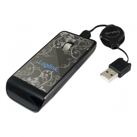 LogiLink ID0056 USB optikai fekete-fehér mintás ''tükör'' egér