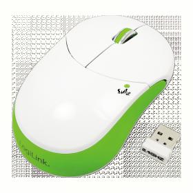 LogiLink ''Smile'' wireless optikai zöld-fehér egér (ID0074)