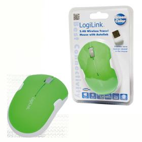 Logilink ID0123 wireless optikai zöld-fehér egér