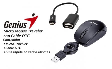 Genius Micro Traveler USB optikai fekete egér (31010100137)