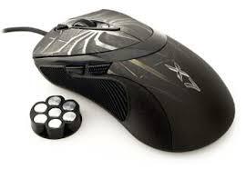 A4-Tech XL-747H USB lézer fekete mintás gamer egér