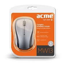 Acme MW13 Compact wireless optikai ezüst-fekete egér