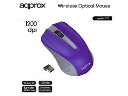 Approx WMLITEP wireless optikai lila egér (APPWMLITEP)
