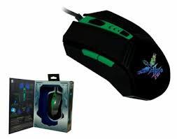X-ZERO  X-M335K USB optikai fekete-zöld gamer egér