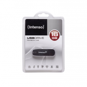 Intenso Rainbow Line 16GB USB2.0 Fekete Pendrive (3502470)