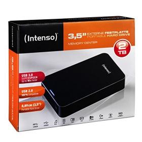 Intenso MemoryCenter Külső Merevlemez 2TB Fekete (6031580)