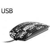 Tracer Urban Style USB optikai fehér mintás egér (TRAMYS45217)