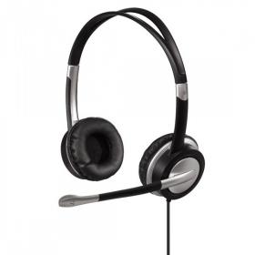 Hama HS-35 mikrofonos fekete-ezüst headset (53993)