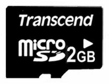Transcend Standard 2GB MicroSD memóriakártya