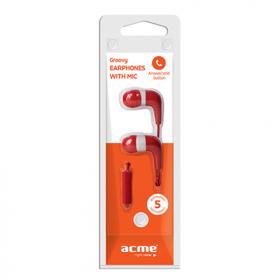 ACME HE15 piros mikrofonos fülhallgató (ACFHHE15R)