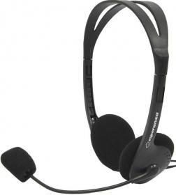 ESPERANZA SCHERZO fekete mikrofonos fejhallgató (EH102)