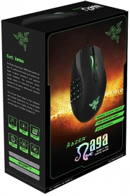 Razer Naga 2014 USB lézer fekete-zöld jobbkezes gamer egér  (RZ01-01040100-R3G1)