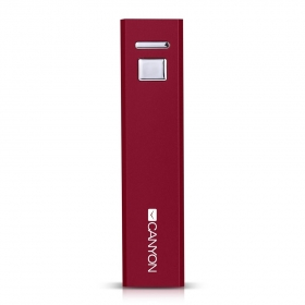 CANYON CNE-CSPB26R 2600 mAh piros PowerBank
