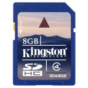 Kingston 8 GB SDHC Class 4 memóriakártya (SD4/8GB)