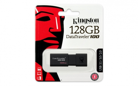 KINGSTON DataTraveler 100 G3 128GB USB3.0 Fekete Pendrive (DT100G3/128GB)