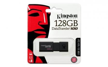 KINGSTON DataTraveler 100 G3 128GB USB3.0 Fekete Pendrive (DT100G3/128GB)