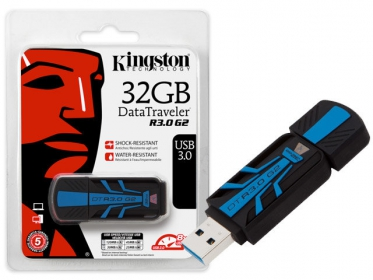 KINGSTON DataTraveler 30G2 32GB USB3.0 Fekete-Kék Pendrive (DTR30G2/32GB)