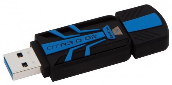 KINGSTON DataTraveler 30G2 64GB USB3.0 Fekete-Kék Pendrive (DTR30G2/64GB)