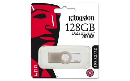 KINGSTON DataTraveler 128GB, USB 3.0, fehér Pendrive(DT101G3/128GB)