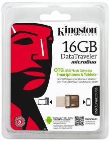KINGSTON DataTraveler microDuo 16 GB USB 2.0/micro USB Pendrive (DTDUO/16GB)