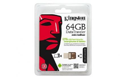 KINGSTON DataTraveler microDuo 64GB USB2.0/micro USB Pendrive(DTDUO/64GB)