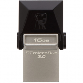 KINGSTON DataTraveler microDuo 3  16GB USB3.0 Fekete Pendrive (DTDUO3/16GB)