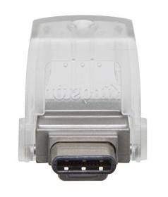 KINGSTON DataTraveler microDuo 3C 32GB USB3.1 Ezüst  Pendrive (DTDUO3C/32GB)
