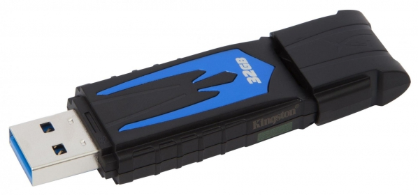 KINGSTON HyperX Fury 32GB USB3.0 Fekete-Kék Pendrive (HXF30/32GB)