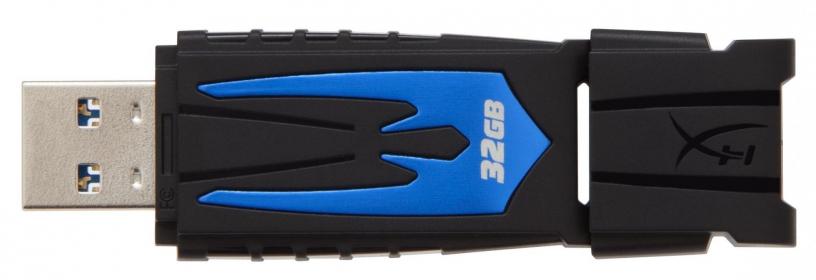 KINGSTON HyperX Fury 32GB USB3.0 Fekete-Kék Pendrive (HXF30/32GB)