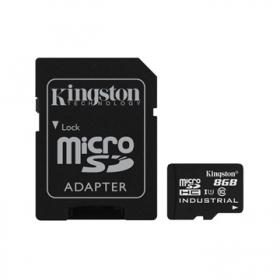 KINGSTON MEMÓRIAKÁRTYA MICROSDHC 8GB CLASS 10 UHS-I INDUSTRIAL TEMP + ADAPTER