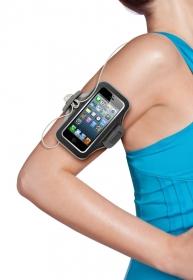 Belkin Slimfit Sport Brace fekete-szürke iPhone 5/5S sport karpánt telefontok (F8W299VFC00)