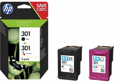 HP 301 fekete/háromszínű tintapatron csomag (N9J72AE)