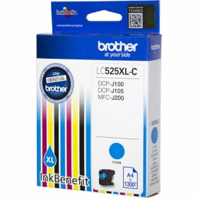 Brother LC525XLC ciánkék tintapatron