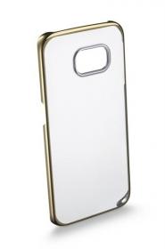 Cellularline Tok Clear Crystal G925 Samsung GALAXY S6 EDGE arany átlátszó telefontok (CLEARCRYGALS6EH)