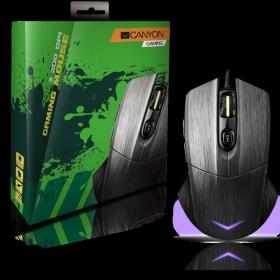 Canyon CND-SGM5 USB optikai fekete-szürke gamer egér